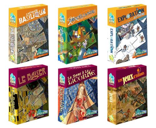 La collection complète des jeux Cartzzle de Opla