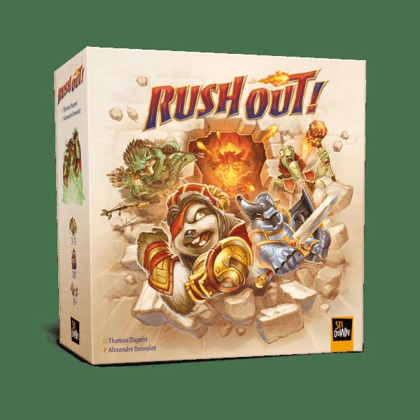 Le jeu Rush Out édité par Sit Down et distribué en Belgique par Géronimo