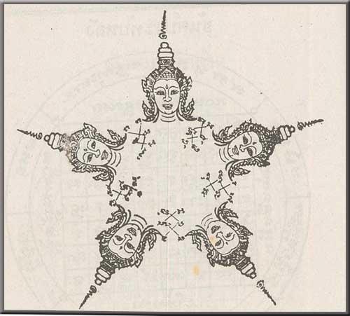 Yant Bpanja Mukhee - Five Faced Deva Yantra