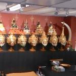 Samnak Sak Yant Ajarn Jiak Po Dam Khone Masks Within The Samnak