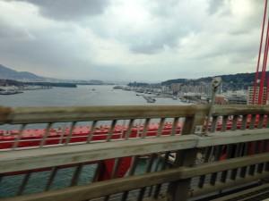 若戸大橋より若松港を望む