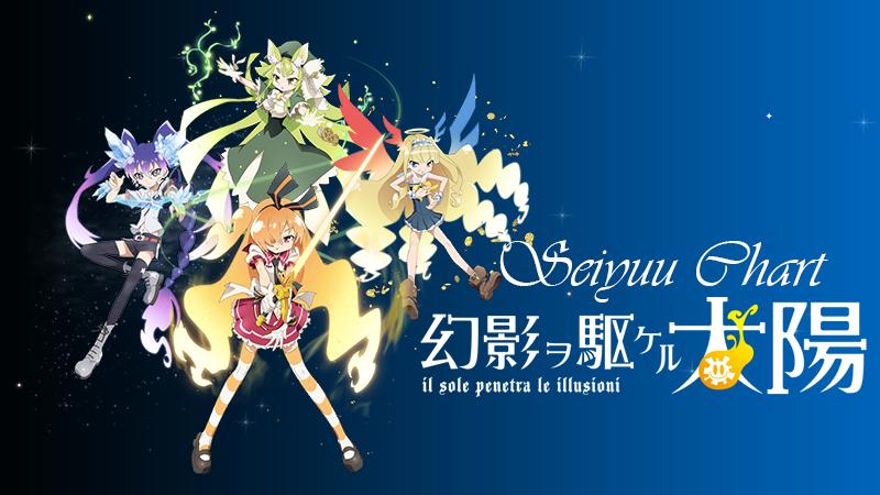 Seiyuu Chart: Gen'ei wo Kakeru Taiyou