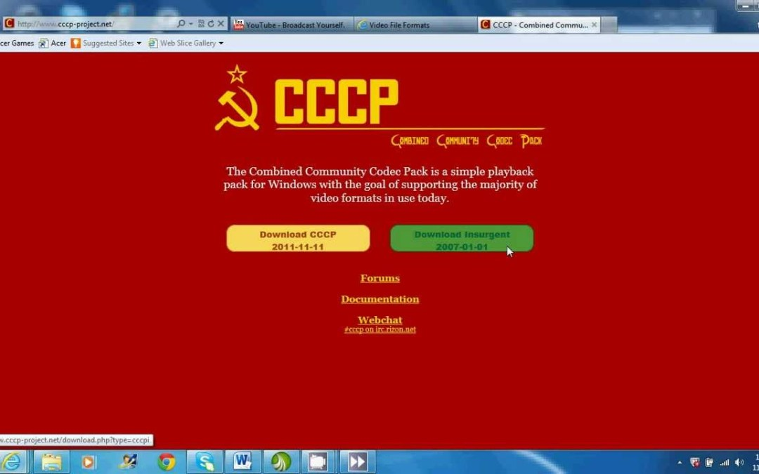 Combined Community Codec Pack Project (CCCP-Project) Down & CCCP Installer Mirror