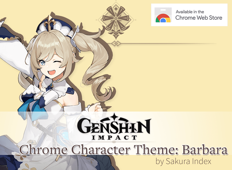 [Chrome Theme] Barbara Theme for Genshin Impact Free Download