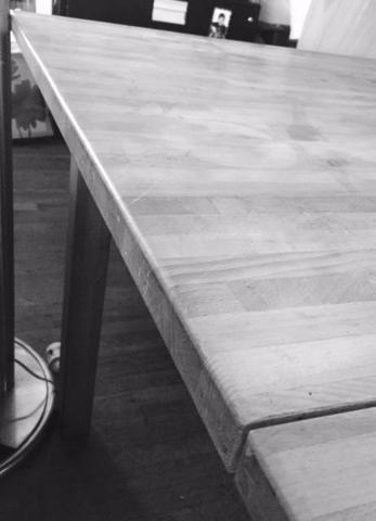 Butcher Block Table in the kitchen
