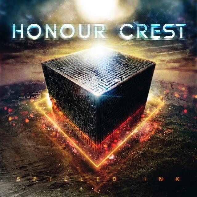 honour crest spilled ink