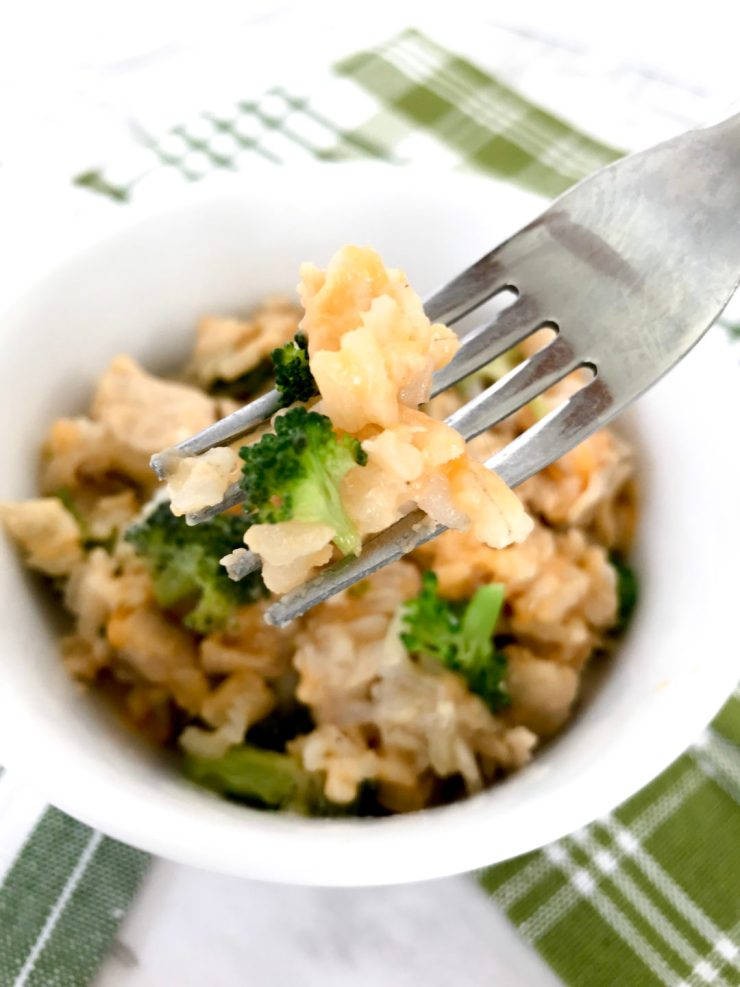 Instant Pot Chicken and Broccoli Cheesy Rice Casserole – it's cheesy, it's comforting and it's made in an instant pot. It's the perfect comfort food dinner! #instantpotrecipe #comfortfood #chickenandbroccoli #chicken #broccoli