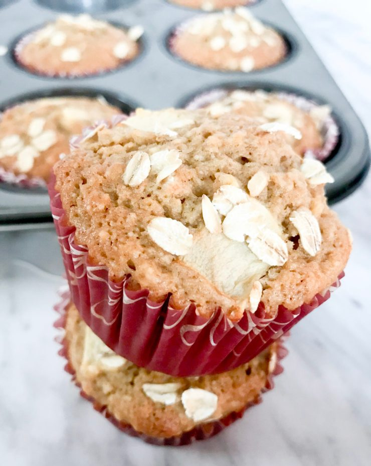 These delicious Paleo Apple Cinnamon Muffins are the perfect way to start the day. They are a quick, grab and go breakfast recipe for busy weekday mornings but tasty enough as part of a weekend brunch. These muffins are sure to be a big hit! #paleobreakfast #paleomuffin #applemuffin #paleorecipe #applerecipe