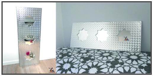 diy miroir oriental effet inox. Black Bedroom Furniture Sets. Home Design Ideas
