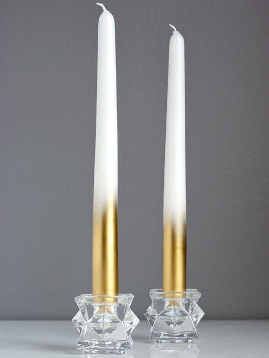 bougies en or