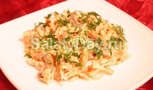 салат рецепт с фото пошагово с блинами