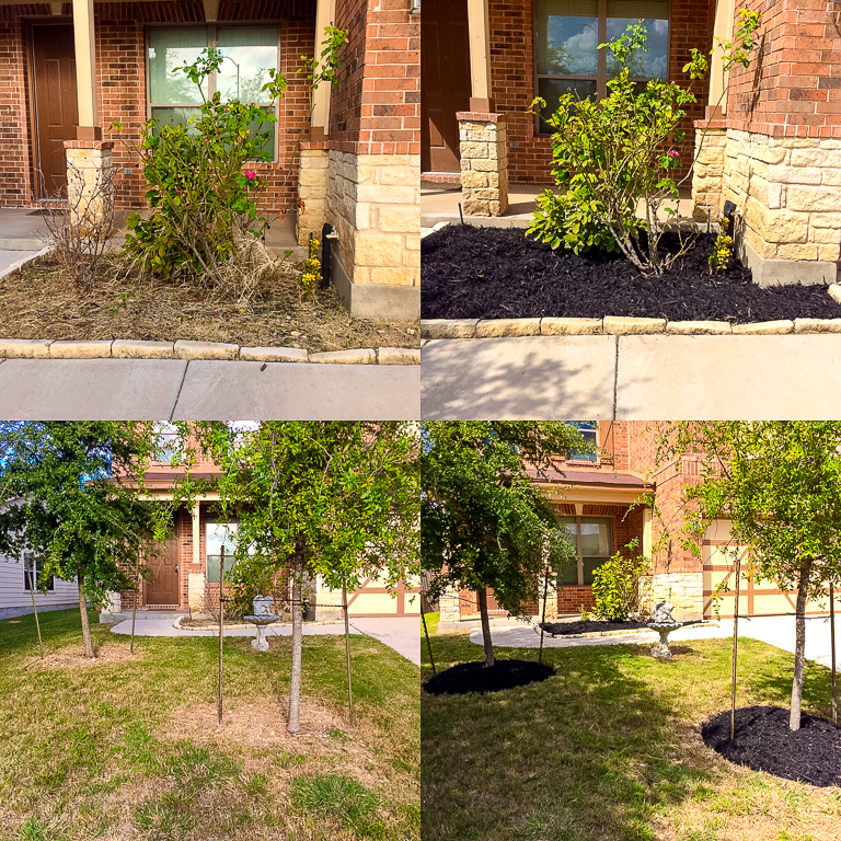 Mulch installation in San Antonio