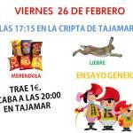 Plan del viernes 26 y sábado 27
