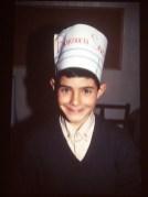 PJ Rodriguez con gorro de cocinero