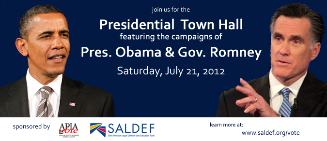 Presidential Town Hall on AAPI issues July 21st (source: SALDEF)