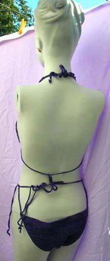 Ladies tropical fashion string bikini from thread art