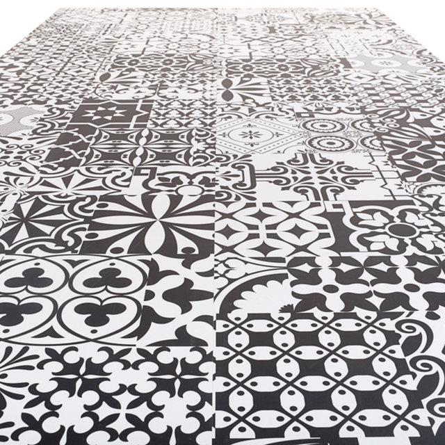 kronotex quadraic 8mm matt tile black white by falquon laminate flooring