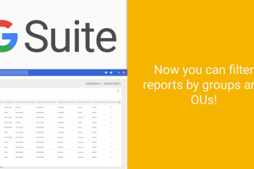 How to Filter G Suite Reports by Groups
