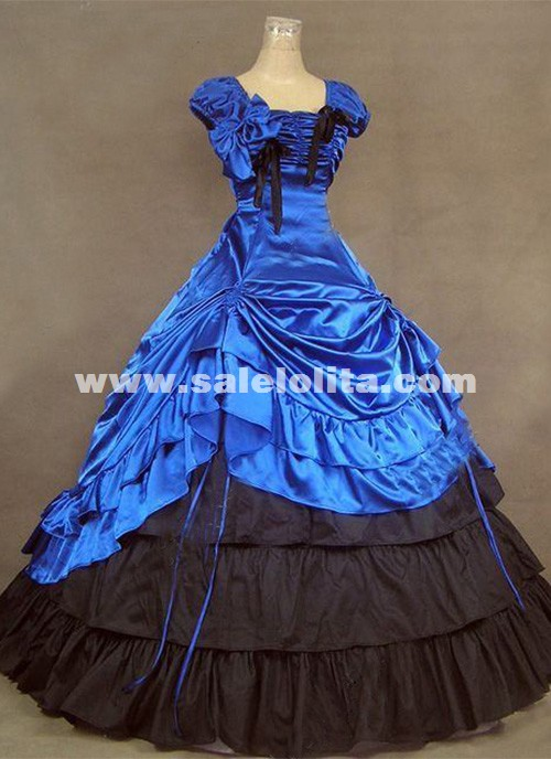 Brand New Royal Blue Southern Belle Victorian Ball Gowns