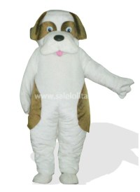 Multi Color Plush Adult Dog Mascot Costume