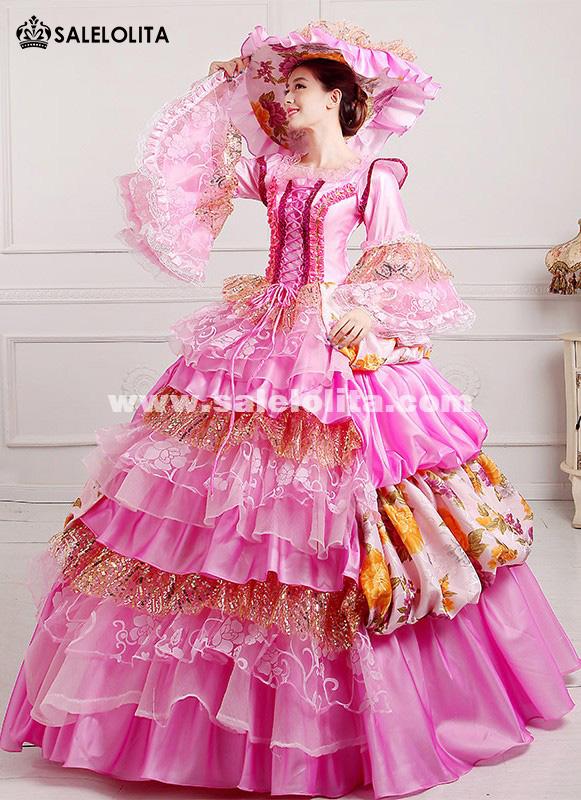 2016 Elegant Dance Dress 18th Century Marie Antoinette Ball Gown