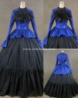 Black and Blue Ball Gown Dresses