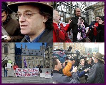 Image result for kevin annett protests