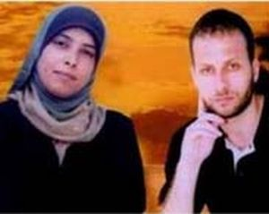 Ahlam (left) and Nezar (right) Tammimi, were among the 477 Palestinian prisoners released from Israeli prisons, October 18.