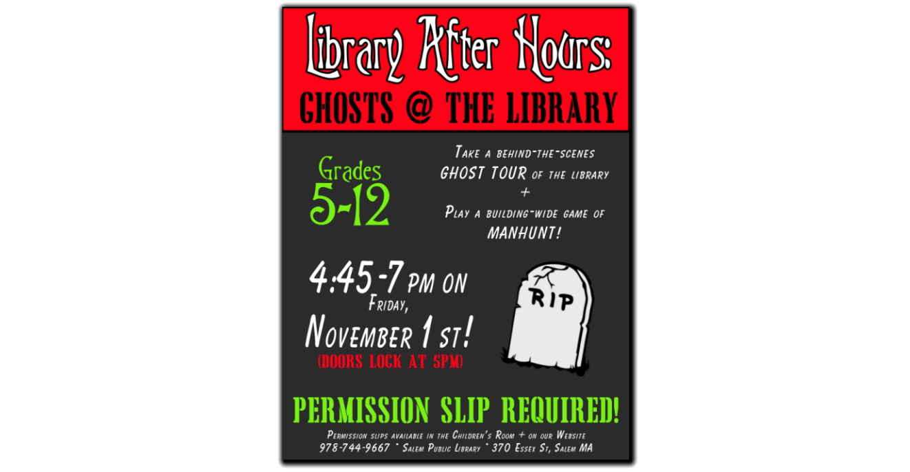 Ghosts At The Library Nov 1
