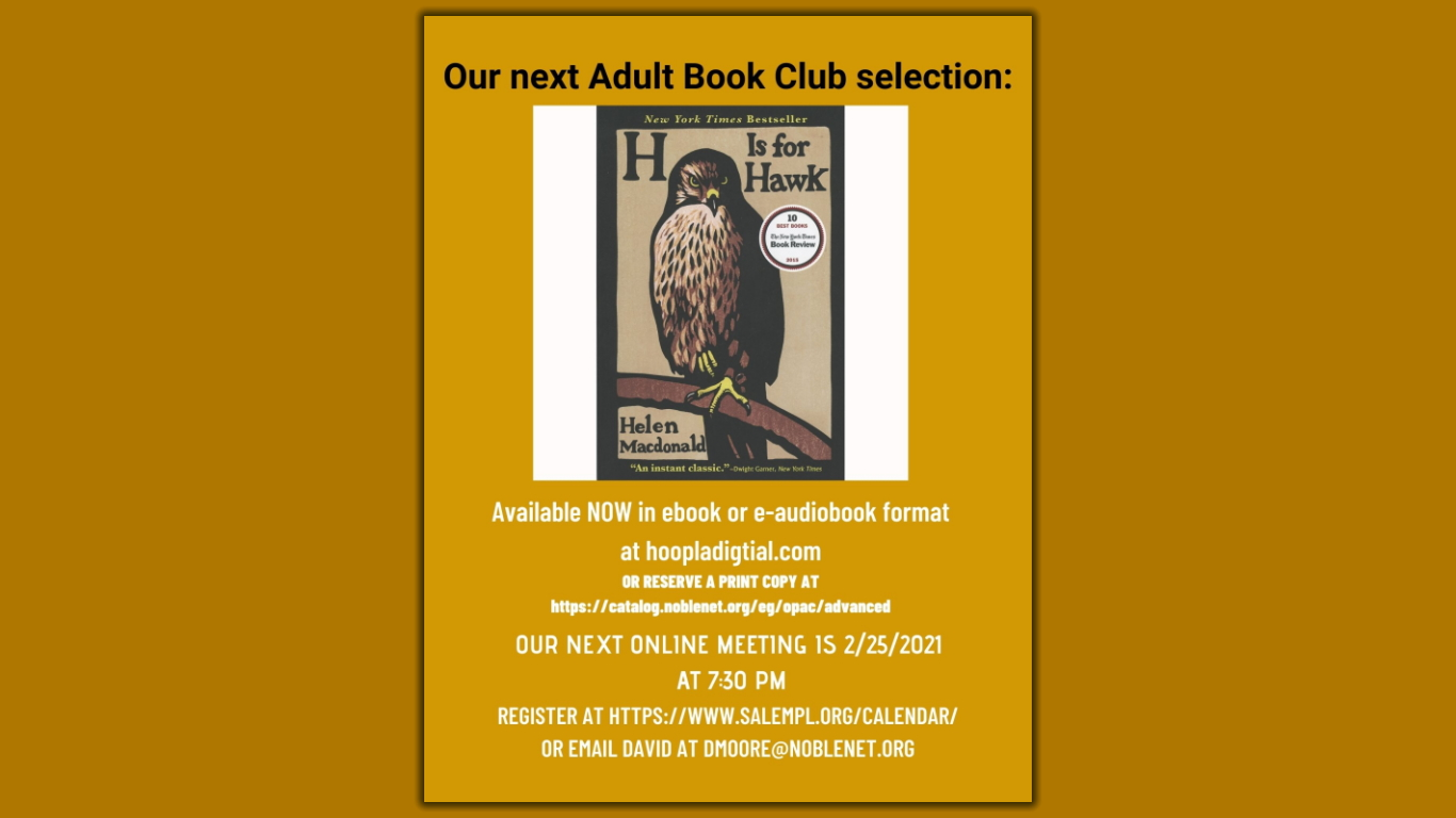 Adult Book Club H Is For Hawk