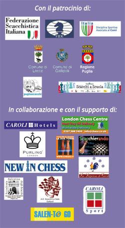 Patrocini e sponsor - 8° Open Internazionale del Salento 2019