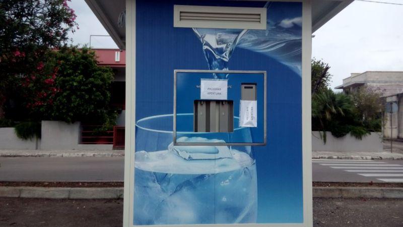 Installato a Borgagne distributore automatico di acqua,la location,si trova in via Lecce ,nei pressi dell'Oratotorio Sant'Antonio