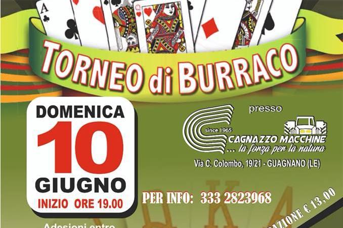 A Guagnano la Proloco organizza Torneo di Burraco , parte del ricavato sostiene assocciazione Sunrise