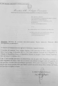 accordo hga - tap - risposta DIaluce