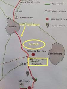 Via Francigena - Interferenza TAP