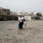 Pulitura spiaggia San Foca