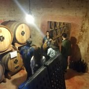 Schola Sarmenti winery. The underground cellar