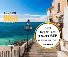 Amalfi Coast on Boat next departure from salerno