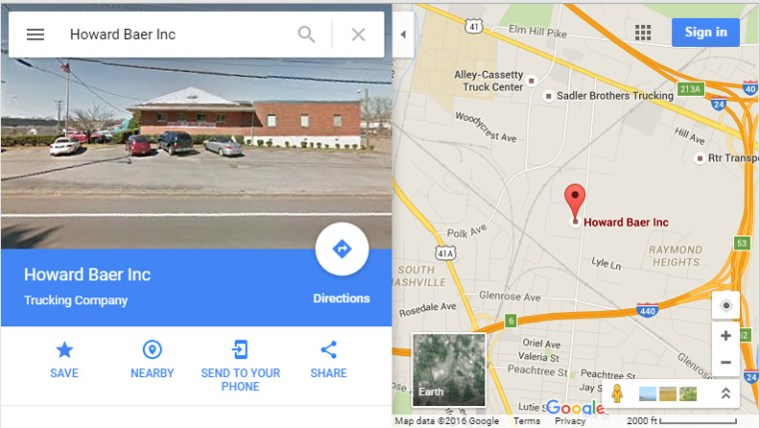 Google Map Search Result for Sales Prospecting