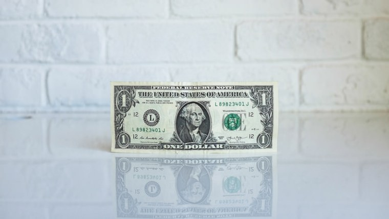 Income Producing Activities - Dollar Bill in front of white brick wall