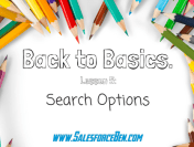 Back to Basics: Search Options