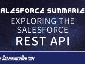 Salesforce Summary – Exploring the Salesforce REST API