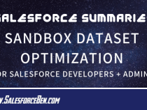 Salesforce Summary – Sandbox Dataset Optimization for Salesforce Developers and Admins