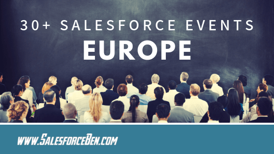 30+ Salesforce Events in 2019 - Europe [Infographic]
