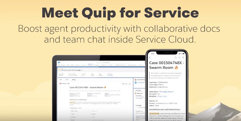 """, Que fait Quip ? Intégration plus poussée avec Salesforce Sales and Service Cloud<span class=""""wtr-time-wrap after-title""""><span class=""""wtr-time-number"""">4</span> minutes de lecture</span>"""