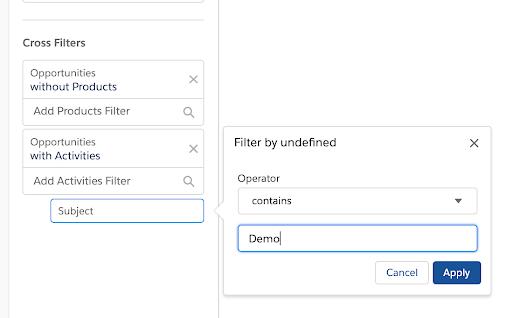 """, Que sont les filtres croisés dans Salesforce Reporting?<span class=""""wtr-time-wrap after-title""""><span class=""""wtr-time-number"""">6</span> minutes de lecture</span>"""
