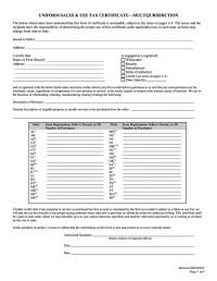 Printable Alabama Sales Tax Exemption Certificates