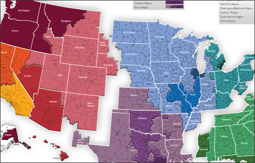Tips For Covering A Large Sales Territory MarketMAPS Blog - Us sales territory map