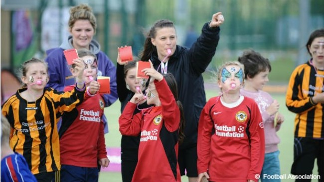 Lucy Oliver at Suffolk FA Women's Recruitment Event