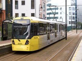 £350m tram extension on track to open in early 2020, connecting Salford to Trafford Centre